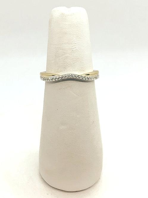 Yellow Gold & Diamond Swirl Ring