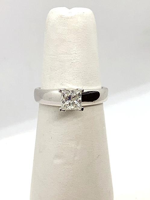 WG Princess Cut Diamond Solitaire Ring