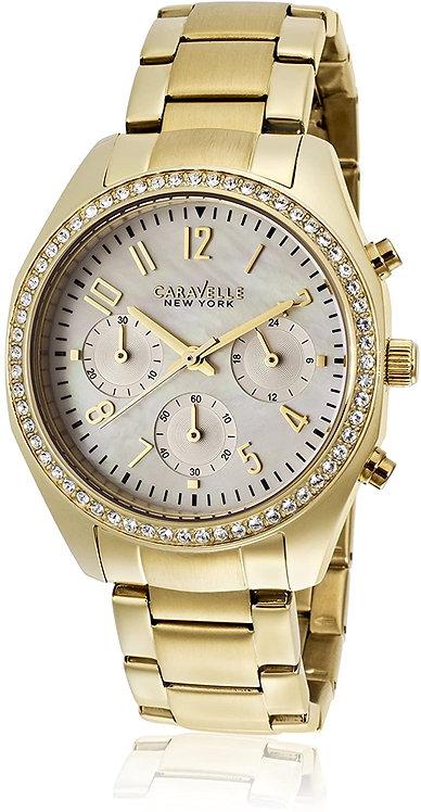 Bulova Caravelle New York Woman Analog Display Japanese Quartz Watch Yellow