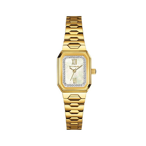 Wittnauer Ladies Mini Gold 3-hand Gold Bracelet Band Pearl Dial watch
