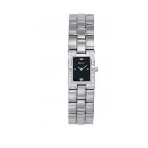 Bulova LADIES 12 DIAMOND Black Face