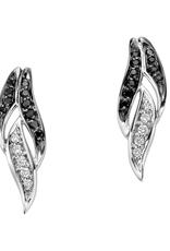 White Gold Black Diamond & Diamond Earrings
