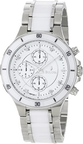 Bulova Women's Substantial Ceramic and Stainless-Steel Construction Watch White