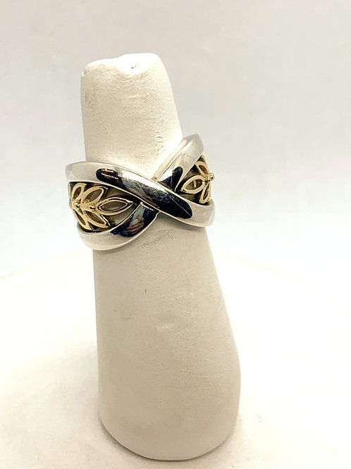 Silver & Yellow Gold Ring