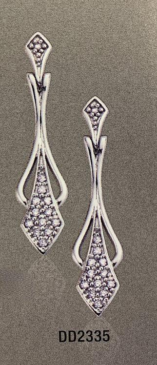 WG Diamond Drop Earrings