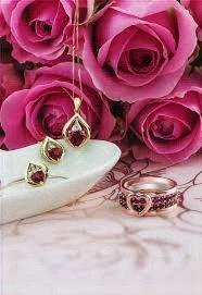 Yellow Gold Ruby & Diamond Earrings