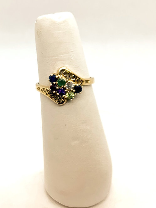 Yellow Gold Family Ring