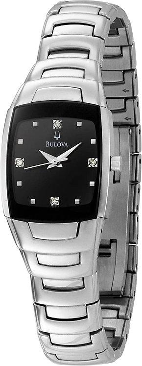 Bulova Women's Diamond Watch Black
