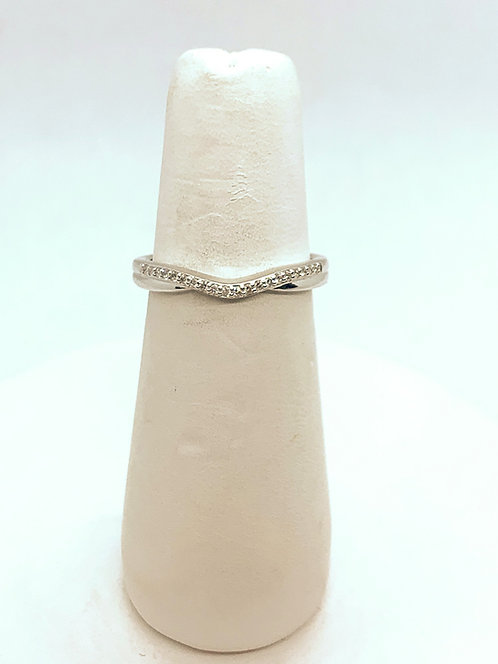 White Gold Diamond Swirl Ring DR3270