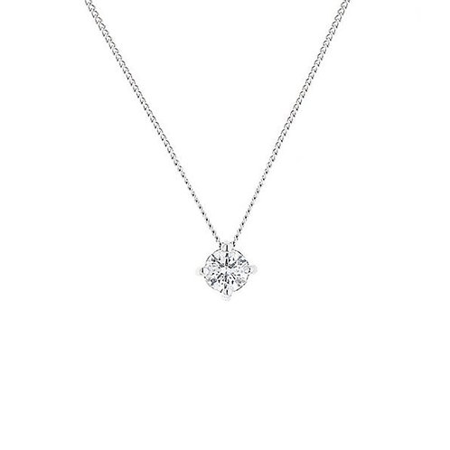 White Gold Floating .25CT Diamond Solitaire Pendant
