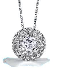 Maple Leaf Diamond Pendant with 2 row halo