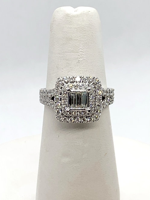 WG Diamond with Double Halo Ring