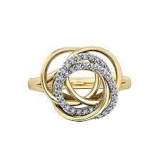 Yellow Gold Diamond Swirl Dinner Ring