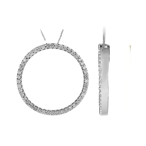 White Gold Circle of Life 2.0CT Pendant