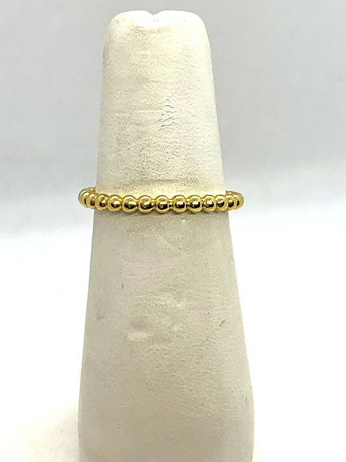 Yellow Gold Stackable Ball Ring DR3070