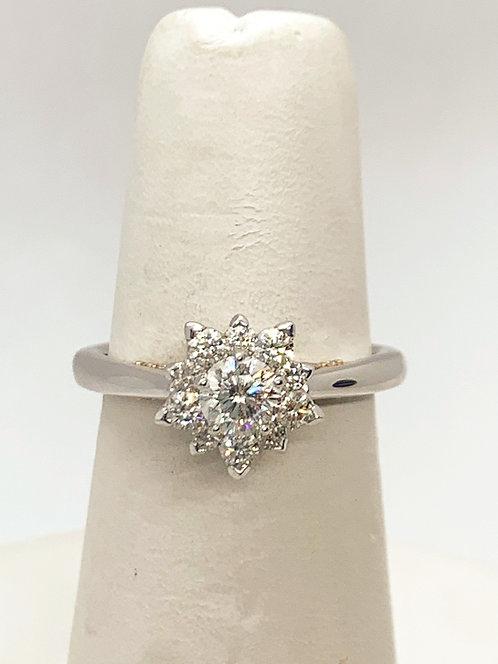 WG and RG Diamond SNOWFLAKE Engagement Ring