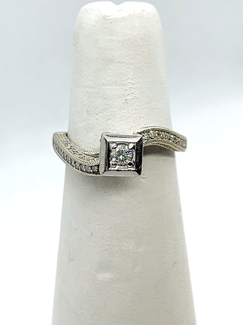 WG RBC Diamond Eangagement Ring
