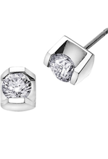 White Gold Tension Set .15CT Diamond Earrings