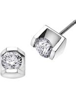 White Gold tension set .25CT Diamond Stud Earrings