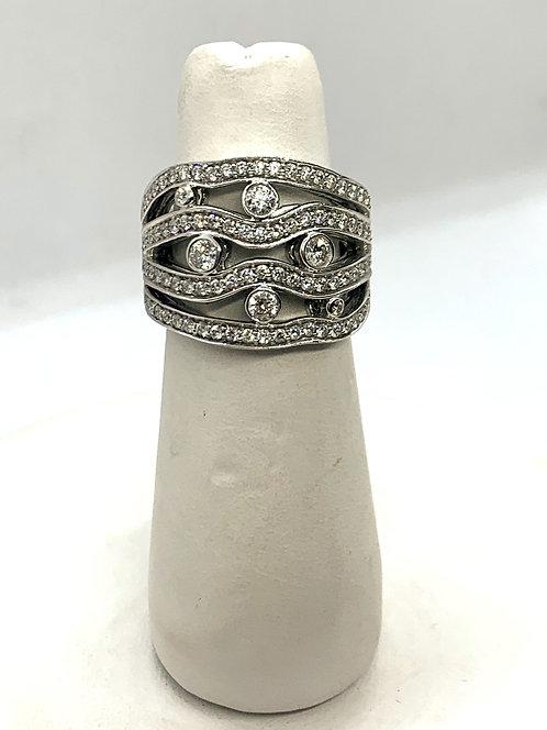 White Gold RBC Diamond Ring