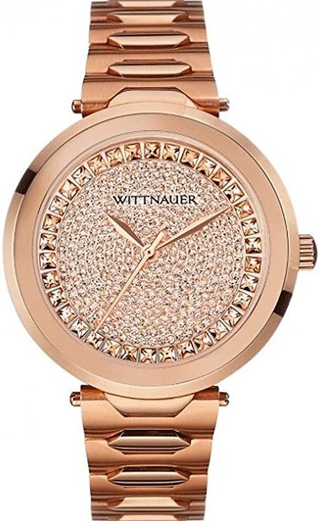 Wittnauer  Taylor Rose Gold Color Bracelet Band Gold Dial Watch
