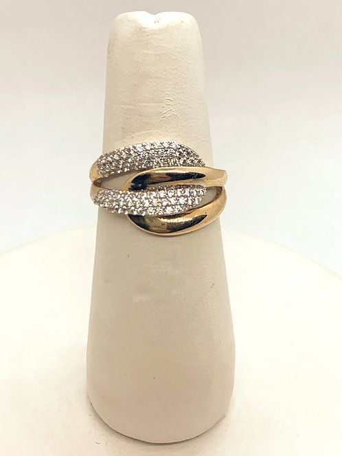 Rose Gold Cubic Zirconia Fashion Ring