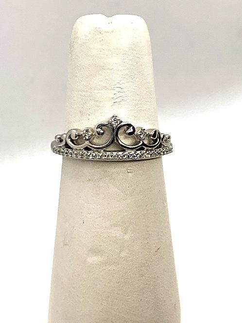 White Gold Diamond Tiara Ring