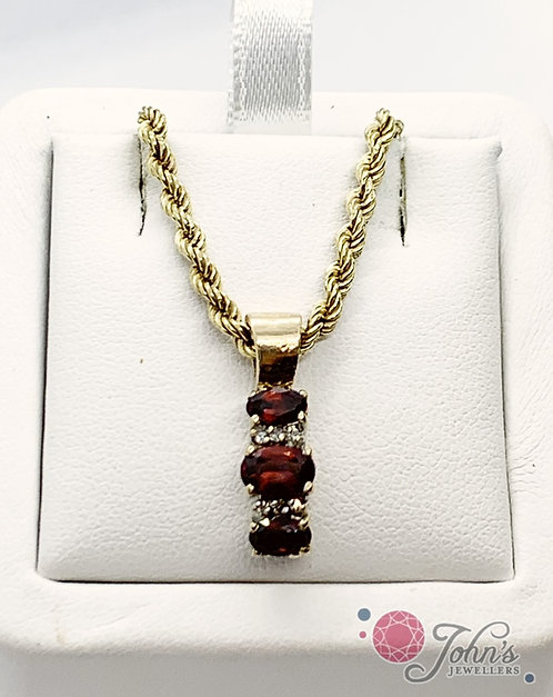 Diamond and Garnet Pendant