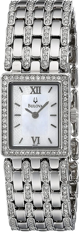 Bulova Ladies Crystal Watch Band