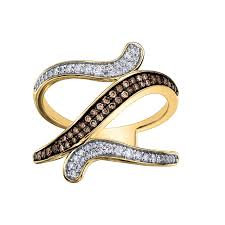 Yellow Gold Chocolate Diamond Dinner Ring