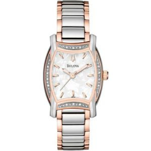 Bulova Ladies Diamond motif White Watch