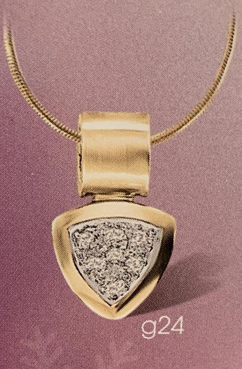 Yellow Gold Diamond Cluster Pendant