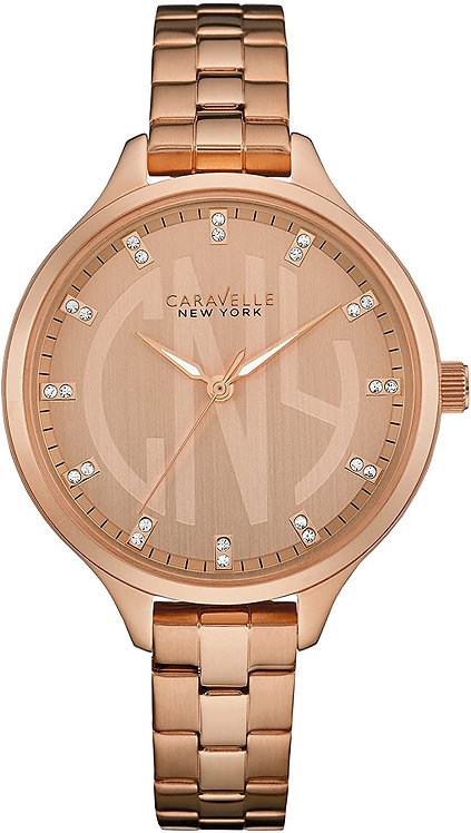 Caravelle New York Rose Gold Watch