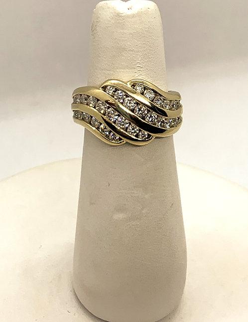 Yellow Gold & Diamond Dinner Ring