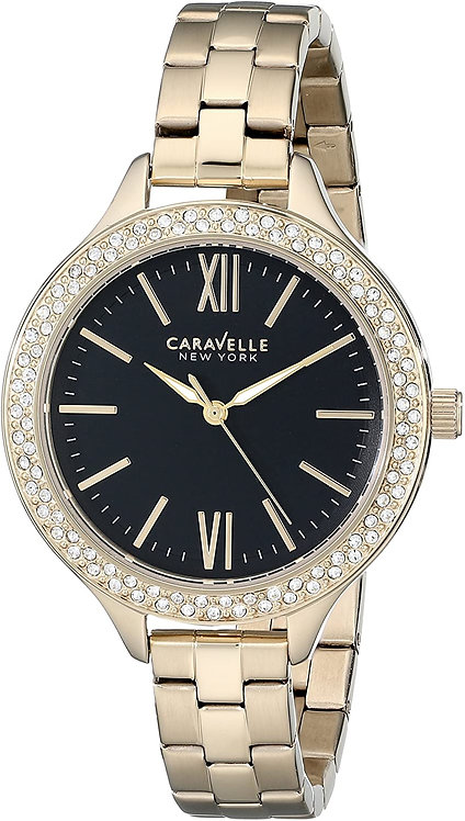 Bulova Caravelle New York Woman Analog Display Japanese Quartz Watch Yell