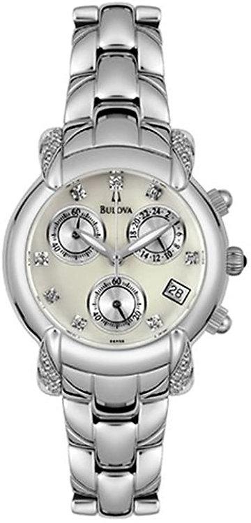 Bulova Ladies Diamond Accented Chronograph Watch
