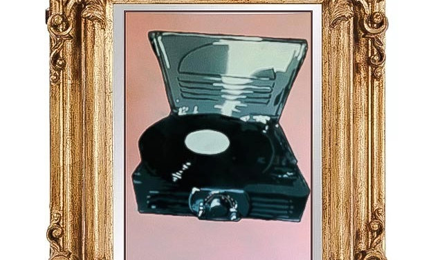"record player 12""x16"""