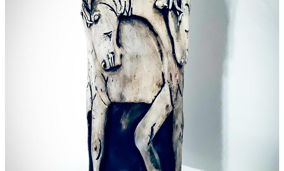 horse vase