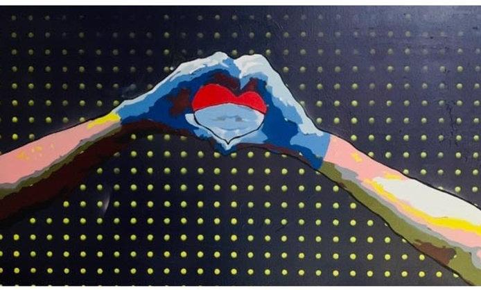 #noglovenolove 2'x3'