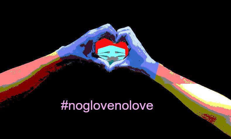 #noglovenolove sticker