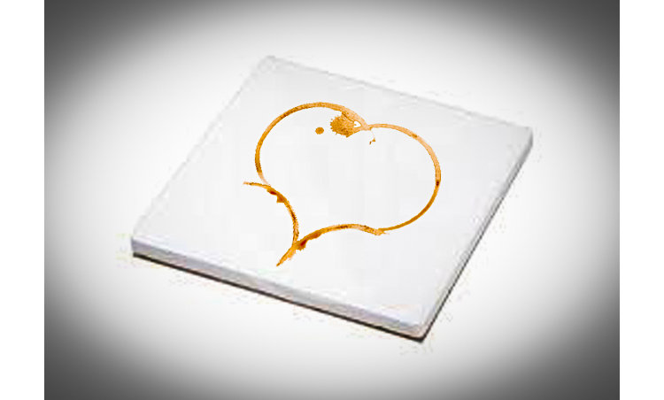 heart shaped coffee stain coaster (set of 4)