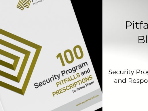 Pitfall #4 of 100: Security Program Roles and Responsibilities
