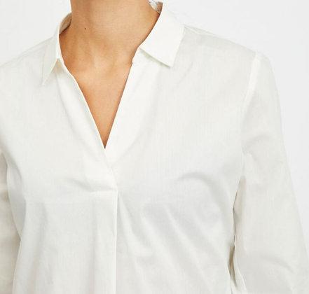 Chemise longue avec décolletée V