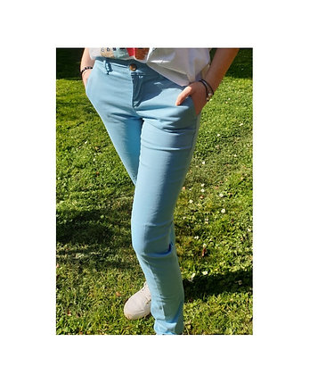 Pantalon chino joy Azur