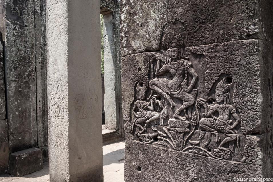 Angkor Temple Wall