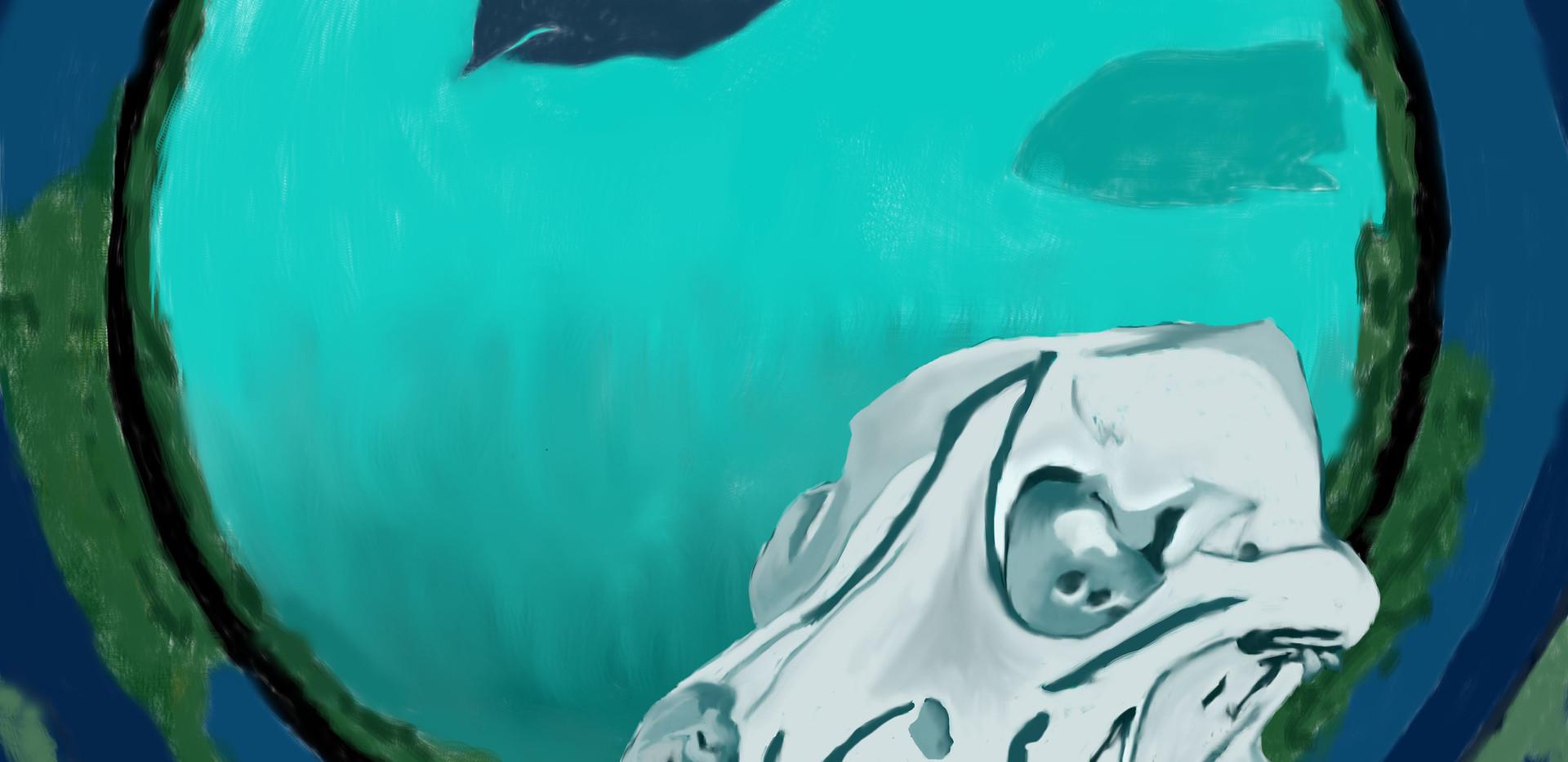 Skull digital painting