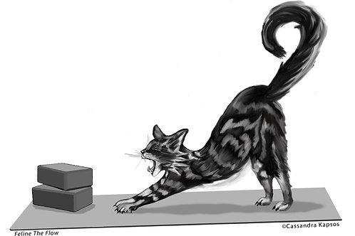 Feline the Flow Yoga Cat