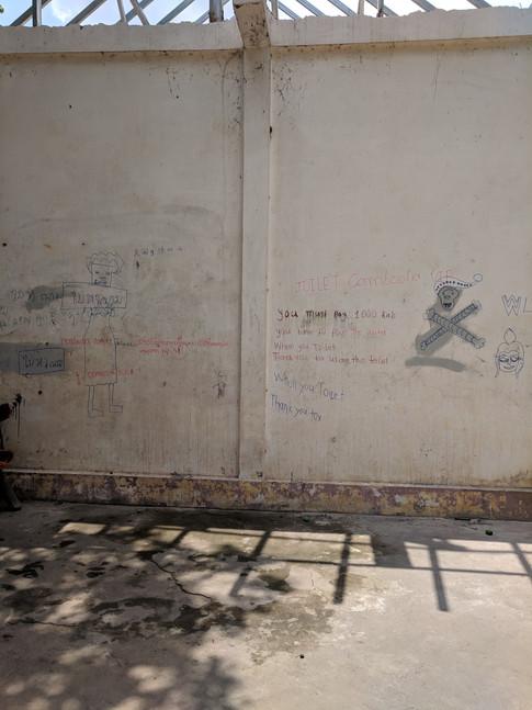 Washroom Graffiti at Angkor Wat
