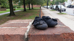 Shoes in Lithuanian Park