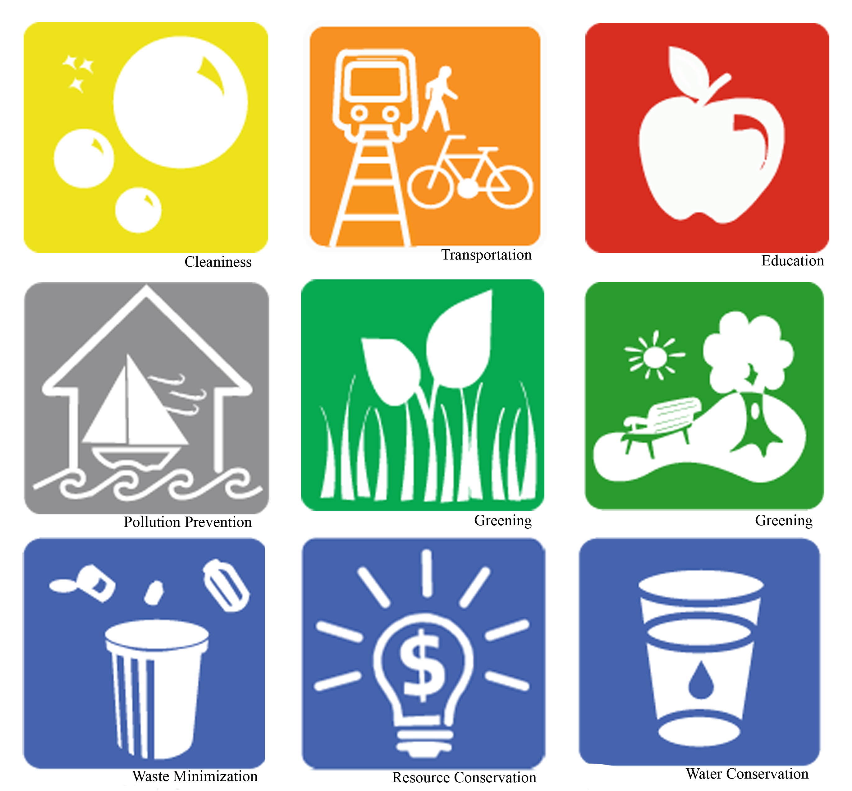 Office of Sustainability Icons